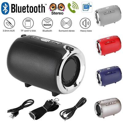 Portable Wireless Bluetooth 4.2 Stereo Speaker with Shoulder Strap FM/TF/AUX