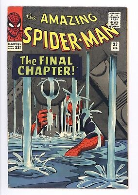 Amazing Spider-Man #33 Vol 1 Near Perfect High Grade Dr. Curt Conners Appearance