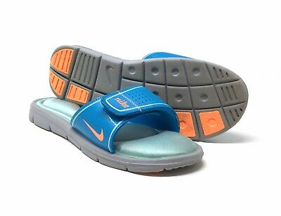 eb67484a3890 Nike Comfort Slides Sandals Flip Flops with Memory Foam Blue Shoes Womens 10