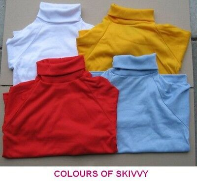 Children's Skivvy boys girls school uniform roll-neck turtleneck