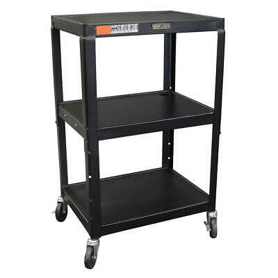 GRAINGER APPROVED Utility Cart,Steel,18 Lx24 W,200 lb Cap., W42AE, Black
