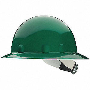 HONEYWELL FIBRE-METAL Hard Hat,8 pt. Pinlock,Grn, E1W74A000, Green