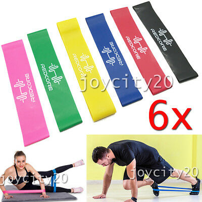 6X Resistance Bands for Exercise Men and Women Legs Arms Booty Yoga Physio
