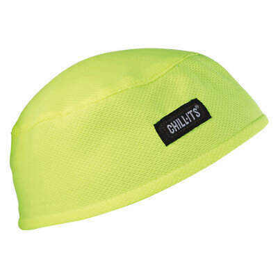 CHILL-ITS BY ERGODYNE Terrycloth High Performance Cap,Lime,Solid, 6630, Lime