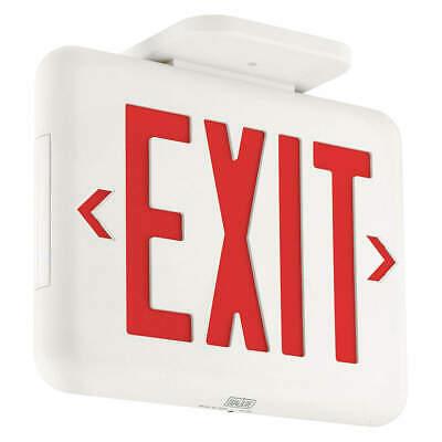 HUBBELL LIGHTING - DUAL-LITE Exit Sign,LED,Red, EVEURWEI