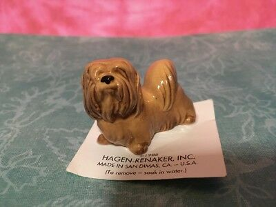 Retired Hagen Renaker Lhasa Apso Dog Figure Collectible