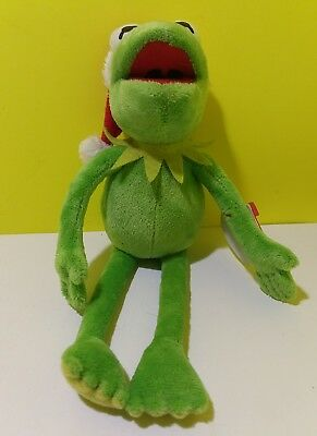 fec2bae47f3 Ty Beanie Baby Christmas Disney Santa Hat Kermit the Frog Plush Doll Toy  Figure