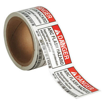 BRADY Polyester Arc Flash Protection Label,2 In. H,PK100, 81105