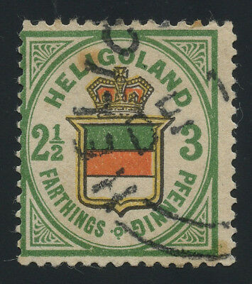 Heligoland 1876 2 1/2 F / 3 Pf used, very good condition, signed, VERY RARE