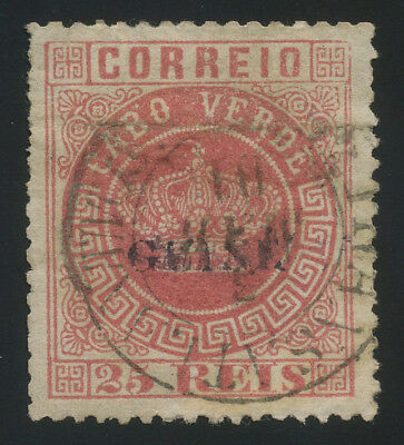 Portuguese Guinea 1881 25r rose used, some flaws but overall nice, VERY RARE