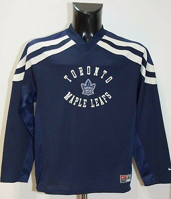 Toronto Maple Leafs Jersey Ice Hockey Nhl Nike Size (L 16-18) Vgc