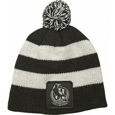 Collingwood Magpies Official AFL Chunky Knit Baby Infant Beanie