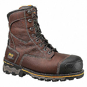 TIMBERLAND PRO Work Boots,Composite,Lthr,8In,10-1/2M,PR, 89628, Brown