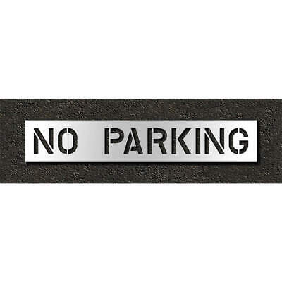 Low Density Polyethylene Pavement Stencil,No Parking,10 in, STL-116-71032, Clear