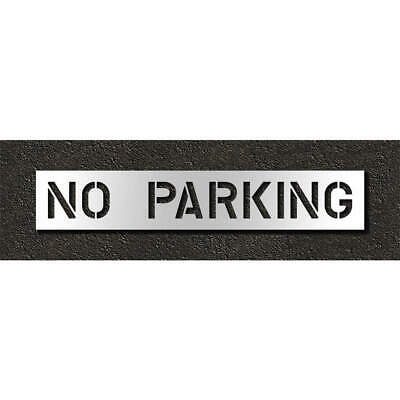 RAE Polyethylene Pavement Stencil,No Parking,10 in, STL-116-71032, Clear