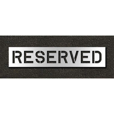 R Low Density Polyethylene Pavement Stencil,Reserved,10 in, STL-116-71033, Clear