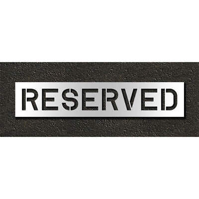 RAE Polyethylene Pavement Stencil,Reserved,10 in, STL-116-71033, Clear