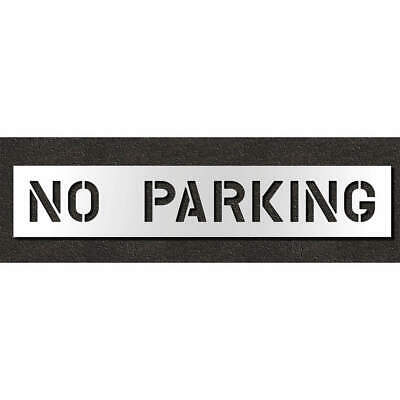 Low Density Polyethylene Pavement Stencil,No Parking,8 in, STL-116-70832, Clear