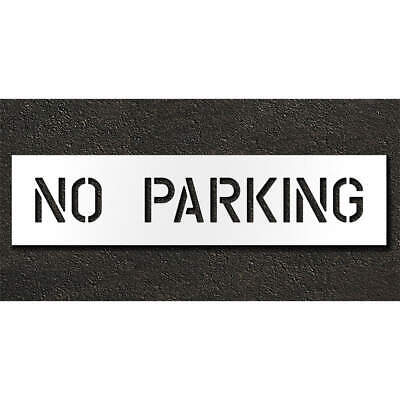 Low Density Polyethylene Pavement Stencil,No Parking,6 in, STL-116-70632, Clear