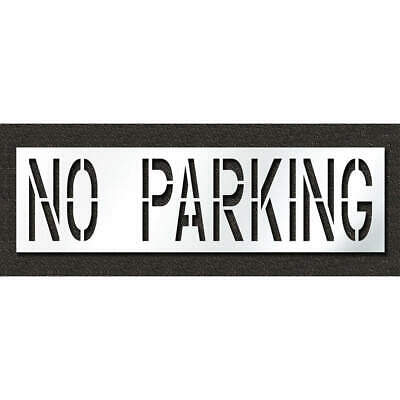 Low Density Polyethylene Pavement Stencil,No Parking,24 in, STL-116-72432, Clear