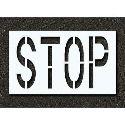 RAE Polyethylene Pavement Stencil,Stop,24 in, STL-116-72403, Clear