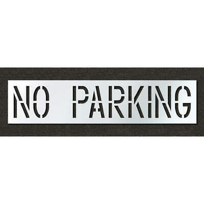 Low Density Polyethylene Pavement Stencil,No Parking,18 in, STL-116-71832, Clear