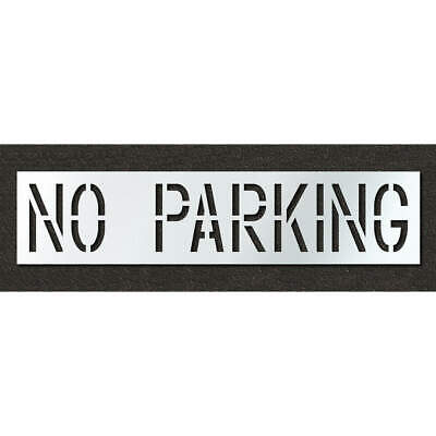 RAE Polyethylene Pavement Stencil,No Parking,18 in, STL-116-71832, Clear