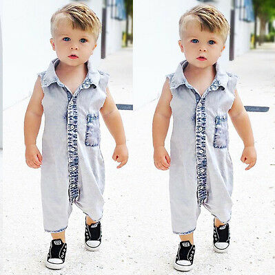 UK Casual Summer Baby Boy Girl Infant Romper Jumpsuit Bodysuit Clothes Outfits