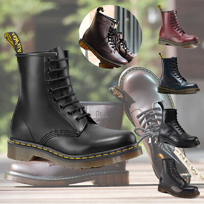 New Genuine Women Classic Leather 8 Eye Smooth Ankle Boots All Colors Sizes