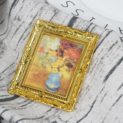 1:12 Dollhouse Miniature Framed Wall Painting Home Decor Room Items &