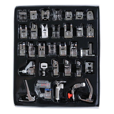 32Pc Domestic Sewing Machine Presser Feet Snap for Brother Janome Singer Set&