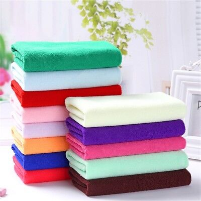 6pcs White Square Cotton Face Hand Car Cloth Towel House Cleaning Nice JH