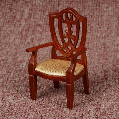 1:12 Miniature dollhouse chair Seat Chair Furniture wooden Rocker Ornaments&
