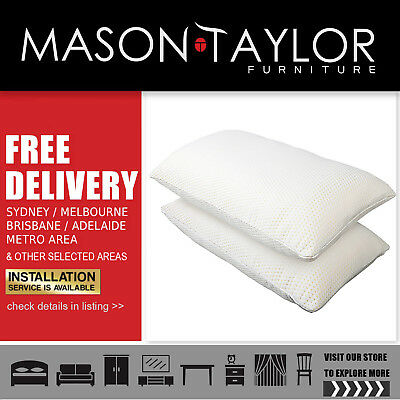 Mason Taylor Giselle Bedding Set of 2  Elastic Memory Foam Pillows Local Store