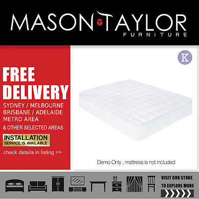 Mason Taylor Giselle Bedding King Size Cotton Mattress Protector  Local Store