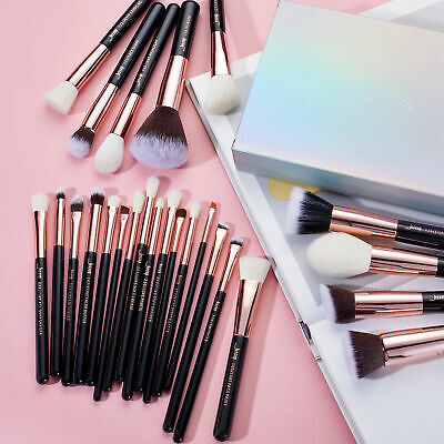 Jessup 25Pcs Complete Makeup Brushes Set Cosmetic Tool Foundation Rose Gold