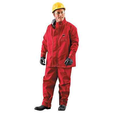 ANSELL Chemical Resistant Jacket,Red,M, 66-660, Red