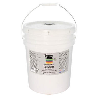 SUPER LUBE Synthetic Gear Oil,ISO 220,5 Gal., 54205, Translucent Clear