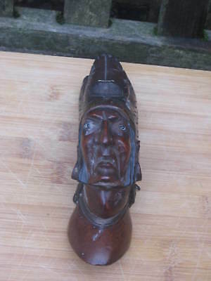 Wooden American Indian Wall Hanging Figure