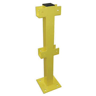 GRAINGER APPROVED Intermediate Post,45 In.,Yellow,Steel, 22DN12, Safety Yellow