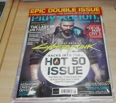 Playstation Official magazine UK #151 AUG 2018 Cyberpunk 2077, Hot 50 Issue &