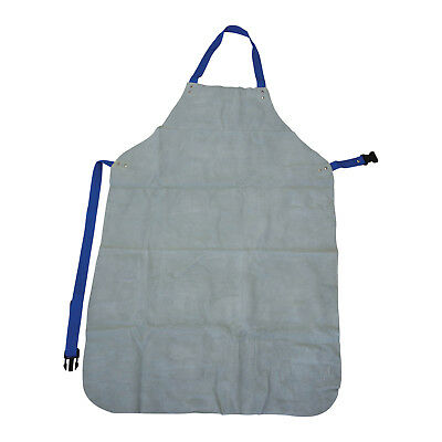 Bossweld CHROME LEATHER FULL APRON Neck & Waist Adjustable Strap *Aust Brand