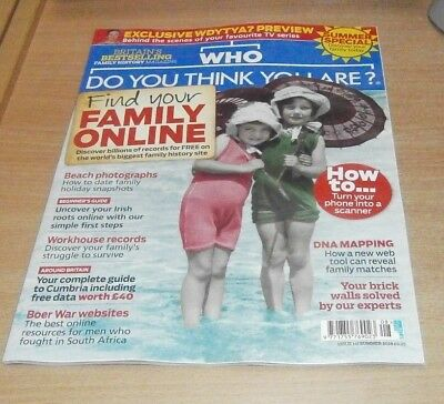 Who Do You Think You Are magazine #141 Summer 2018 DNA Mapping, BoerWar Websites