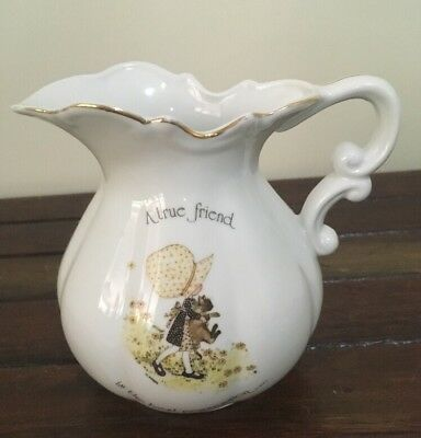 "Vintage Holly Hobbie Water Jug By ""Sands"" Designers Collection 70's VGC"
