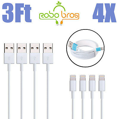 4-PACK Cable For OEM Apple iPhone 6 7 S 8 Plus X Charging Cord USB Charger