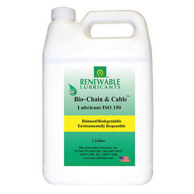RENEWABLE LUBRICANTS Chain & Cable Lubricant,1 Gal, 83083, Yellow