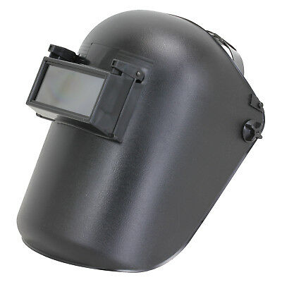 Bossweld LIFT FRONT WELDING HELMET Shade-11 Adjustable Headpiece BLACK*AUS Brand