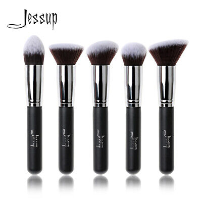 AU Jessup Professional Kabuki Face Cosmetic Brush Set Tapered Angled Face Powder