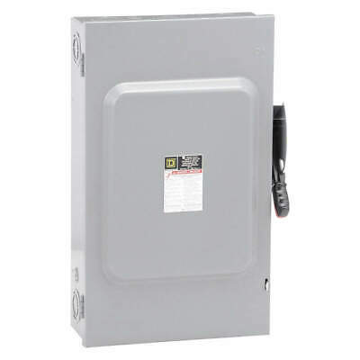 SQUARE D Safety Switch,600VAC,3PST,200 Amps AC, H364