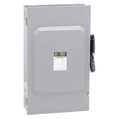 SQUARE D Safety Switch,600VAC,3PST,200 Amps AC, H364N